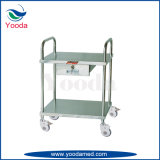 Durable Stainless Steel Medical Trolley with One Drawer
