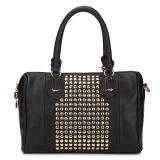 China Wholesale Fashion PU Rivet Shoulder Handbag (MBNO035011)