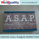 Canvas Wall Plaque Quality Control Inspection Service at Minhou, Fujian