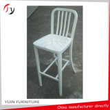 Navy Furniture Model White High Bar Chairs (NC-14)