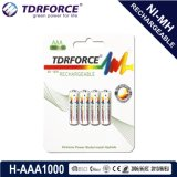 1.2V Rechargeable Low Self Discharge Nickel Metal Hydride China Fatory Battery (HR03-AAA 1000mAh)