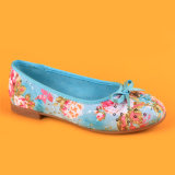 Kids Girls Blue Pumps Dancing Shoes with Bowknot
