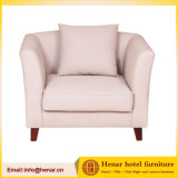 Modern Cream Soft Fabric Single Lounge Sofa