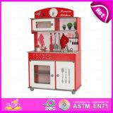 2015 Fashion Wooden Kitchen Set Toy Kids, Pretend Toy Cheap Kitchen Tableware Toy, Big Wooden Kitchen Toys for Wholesale W10c026A