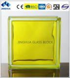 Jinghua High Quality in-Colored Lemon Yellow Glass Brick/Block