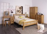 Rustic Oak Wooden Bedroom Furniture Set/Wooden Bed (RL Range)