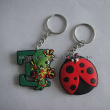 3D Embossed Animated Soft PVC Keychain