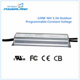 120W 36V Outdoor Programmable Constant Voltage Waterproof LED Driver