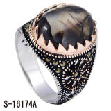 Hot Selling 925 Sterling Silver with Copper Men Rings.