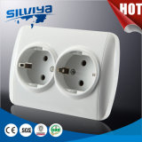 Grounding Schuko 2 Gang Electrical Wall Socket