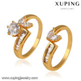 14113 New Arrival Fashion 24k Gold Bridal Set Jewelry Ring with Zircon
