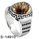 New Models 925 Sterling Silver Men Ring with Stone.