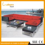 All Weather Modern Garden PE Rattan Corner Sofa with Nice Cushions Outdoor Patio Wicker Aluminum Hotel Table and Chairs Furniture