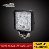24W High Power Aluminum 12V CREE LED Car Work Lamps