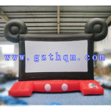 Inflatable Rear Projection Screen for Outdoor Cinema/Popular Inflatable Type Movie Screen