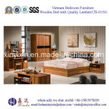 Customized Wooden Double Bed Home Bedroom Furniture (SH-015#)