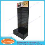 Metal Retail Hanging Power Tool Slatwall Display Stand Shelves with Storage Box
