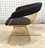 Metal Leisure Furniture Restaurant Cushion Outdoor Steel Wire Chair