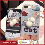 3D Cute Soft Silicone Poke Squishy Cat Phone Back Cover