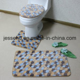 Waterproof Bathroom Floor Anti Slip Bathroom Floor Carpet 3PCS Set