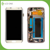 Replacement LCD Touch Screen Assembly for Samsung S7 Edge Gold Color with Frame