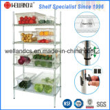 Adjustable Chrome Metal Wire Vegetable Storage Rack for Hotel