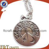 Metal Coin Pendant with Necklace Chain