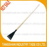 Long Wood Handle Fordged Steel Ice Spade