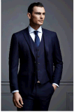 Wholesale Men's Customized Wool 3PCS 2 Front-Button Formal Event Suits