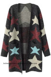 OEM Girl Fashion Hot Sales Long Sweater Cardigan (W17-734)