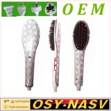 2016 New Arrive Electric Ceramic LCD Nasv Hair Straightener Brush
