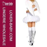 Adult Party White Sexy Angel Costume (L1025)