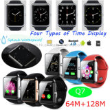 Hot Selling Mobile/Bluetooth Wrist Smart Watch with TFT Touch-Screen Q7
