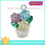 Fashion Natural Jewelry Crystal Sun Flower of Life Pendant Charm