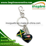Jamaica Flag Metal Charms Keyring for Gifts