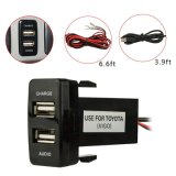 for Toyota USB Car Charger with Audio Input/Adapter