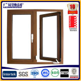 Wooden Color Australia Style Hand Swing Casement Awning Window