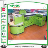 Checkout Counter with Conveyor Belt for Store