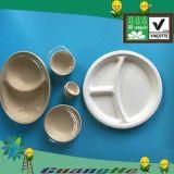 Bio-Based Disposable Dinner Plate, Bagasse-Made Environmental Plate