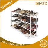 Four Tiers Pop up Metal Steel Shoe Floor Display Stand for Shoe