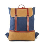 Waxed Cowhide Leather Canvas Women Bag (RS-2009A)