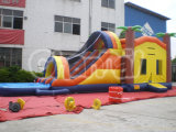 Jungle Inflatable Combo with Water Poor Slide and Catsle Chsl164