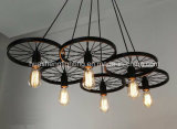 Retro-Style Wheel Pendant Lamp/Creative Pendant Lamp
