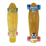 22inch PP Mini Skateboard Cruiser Complete Skateboards Banana Skateboard Clear Gold Design-33