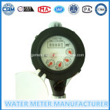 Black Nylon Plastic Multi-Jet Dry Type Water Meter of Dn15-25mm
