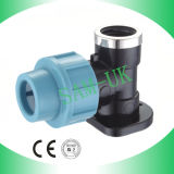 PP Compression Fitting-Elbow with Wall Plated