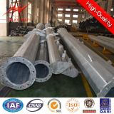 12 Sided Section Steel Galvanized Electrical Power Pole with Bottom Strip