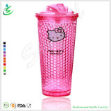 22oz Double Wall Plastic Round Ice Gel Tumbler with Slid Lid (FB-A12)