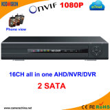 2SATA H. 264 Ahd Hybrid Standalone DVR 16CH 960h