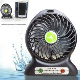 USB Mini Fan Portable Electric Fans LED Portable Rechargeable Desktop Fan Cooling Air Conditioner Portable Fan with a Battery